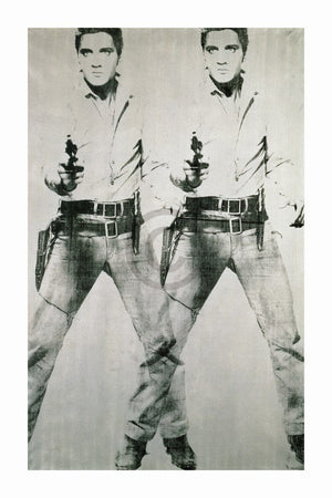 Andy Warhol - Elvis 1963 Double Kunstdruck 60x90cm | Yourdecoration.de