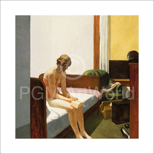 Edward Hopper - Hotel room, 1931 Kunstdruck 70x70cm | Yourdecoration.de