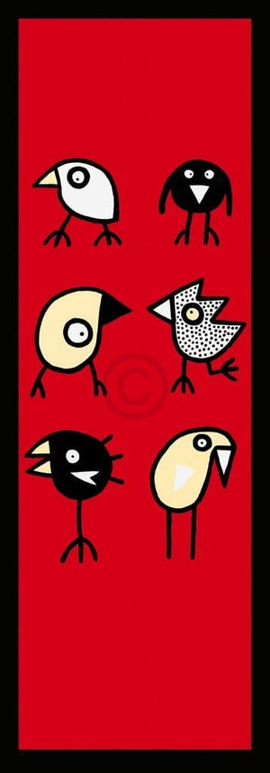 Birdman Hans Lan - Happy together Kunstdruck 35x100cm | Yourdecoration.de