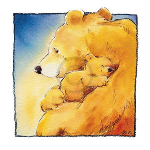 Makiko - Mother Bear's Love I Kunstdruck 30x30cm | Yourdecoration.de