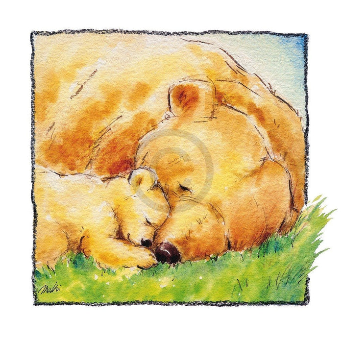 Makiko - Mother Bear's Love II Kunstdruck 30x30cm
