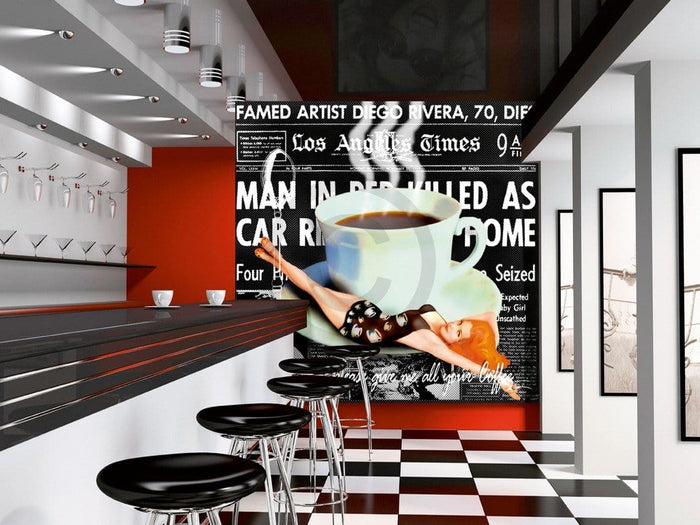 Marcel Terrani - Give me all your coffee Kunstdruck 70x70cm