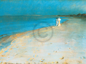 Peter Severin Krøyer - Summer evening Kunstdruck 80x60cm | Yourdecoration.de