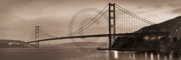 Alan Blaustein - Golden Gate Bridge II Kunstdruck 90x30cm