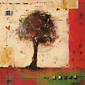 Sonja Kobrehel - Tree II Kunstdruck 70x70cm | Yourdecoration.de