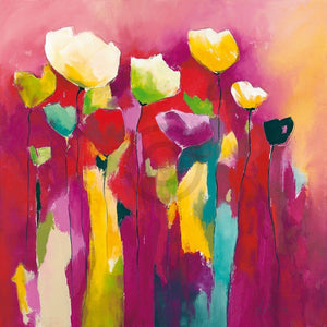 Anne L. Strunk - Townflowers I Kunstdruck 98x98cm | Yourdecoration.de