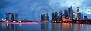 Shutterstock - Panorama of Singapore Kunstdruck 95x33cm | Yourdecoration.de