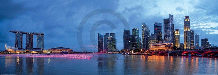 Shutterstock - Panorama of Singapore Kunstdruck 95x33cm