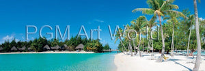 Shutterstock - Beautiful beach on Bora Bora Kunstdruck 95x33cm | Yourdecoration.de