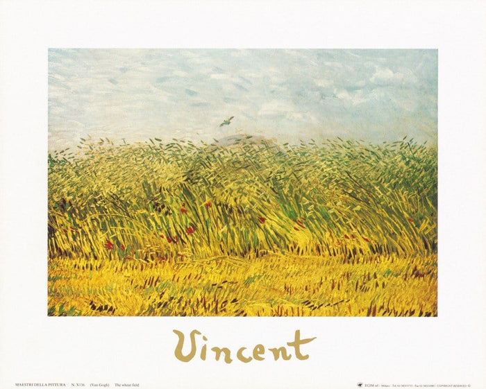 Vincent Van Gogh - The wheat field Kunstdruck 30x24cm