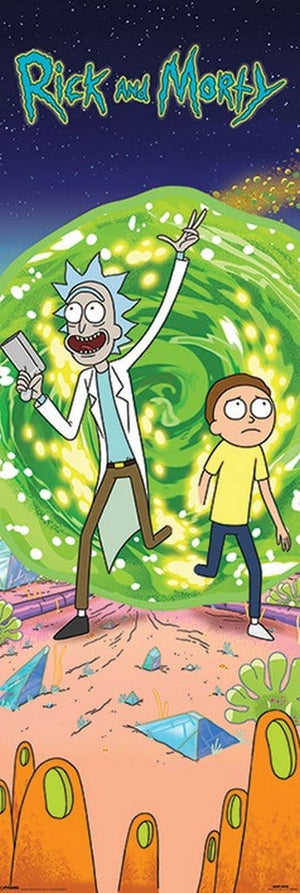 Pyramid Rick and Morty Portal Poster 53x158cm | Yourdecoration.de