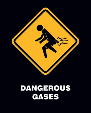 Pyramid Dangerous Gases Poster 40x50cm | Yourdecoration.de