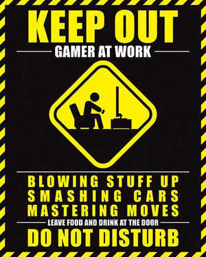 Pyramid Gamer At Work Do Not Disturb Poster 40x50cm | Yourdecoration.de