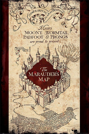 Pyramid Harry Potter The Marauders Map Poster 61x91,5cm | Yourdecoration.de