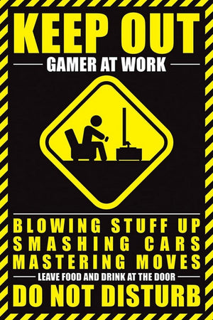 Pyramid Gamer At Work Do Not Disturb Poster 61x91,5cm | Yourdecoration.de