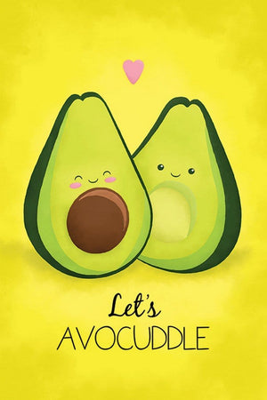 Pyramid Avocado Lets Avocuddle Poster 61x91,5cm | Yourdecoration.de
