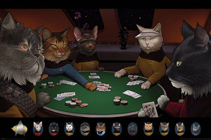 Pyramid Star Trek Cats Poker Poster 61x91,5cm | Yourdecoration.de