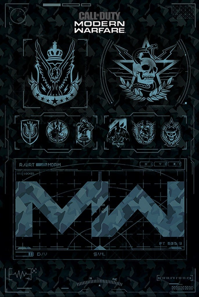 Pyramid Call of Duty Modern Warfare Fractions Poster 61x91,5cm