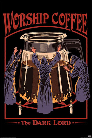 Pyramid Steven Rhodes Worship Coffee Poster 61x91,5cm | Yourdecoration.de