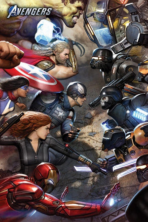 Pyramid Avengers Gamerverse Face Off Poster 61x91,5cm | Yourdecoration.de