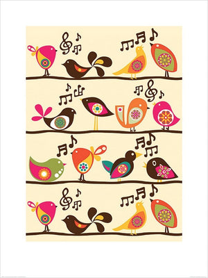 Pyramid Valentina Ramos Singing Birds Kunstdruck 60x80cm | Yourdecoration.de