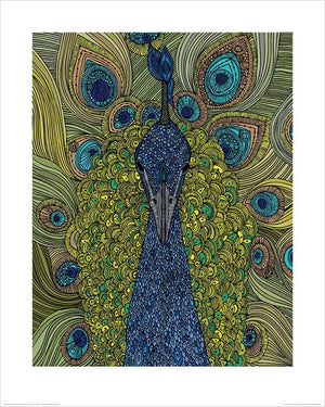 Pyramid Valentina Ramos The Peacock Kunstdruck 40x50cm | Yourdecoration.de
