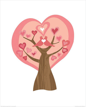 Pyramid Valentina Ramos Tree of Love Kunstdruck 40x50cm | Yourdecoration.de