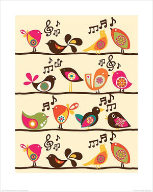 Pyramid Valentina Ramos Singing Birds Kunstdruck 40x50cm | Yourdecoration.de