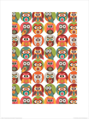 Pyramid Valentina Ramos Owls Family Kunstdruck 30x40cm | Yourdecoration.de