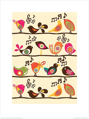 Pyramid Valentina Ramos Singing Birds Kunstdruck 30x40cm | Yourdecoration.de