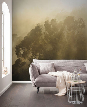 Komar Misty Mountain Vlies Fototapete 400x250cm 4-bahnen Sfeer | Yourdecoration.de