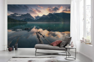 Komar Burning Emerald Vlies Fototapete 450x280cm 9-bahnen Sfeer | Yourdecoration.de