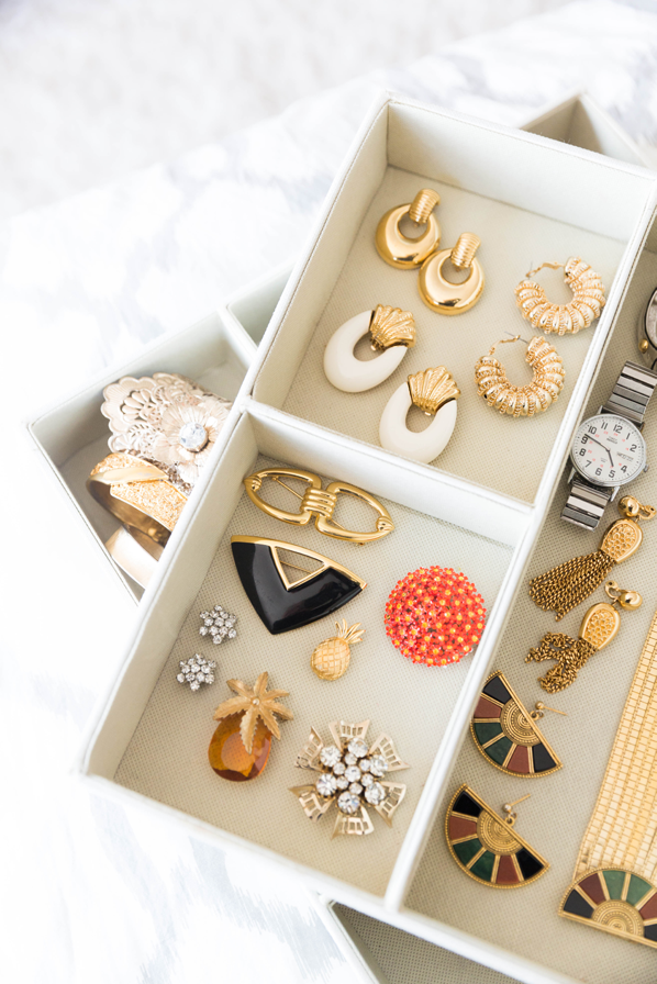 Organizing Bins for Jewelry in your Dresser