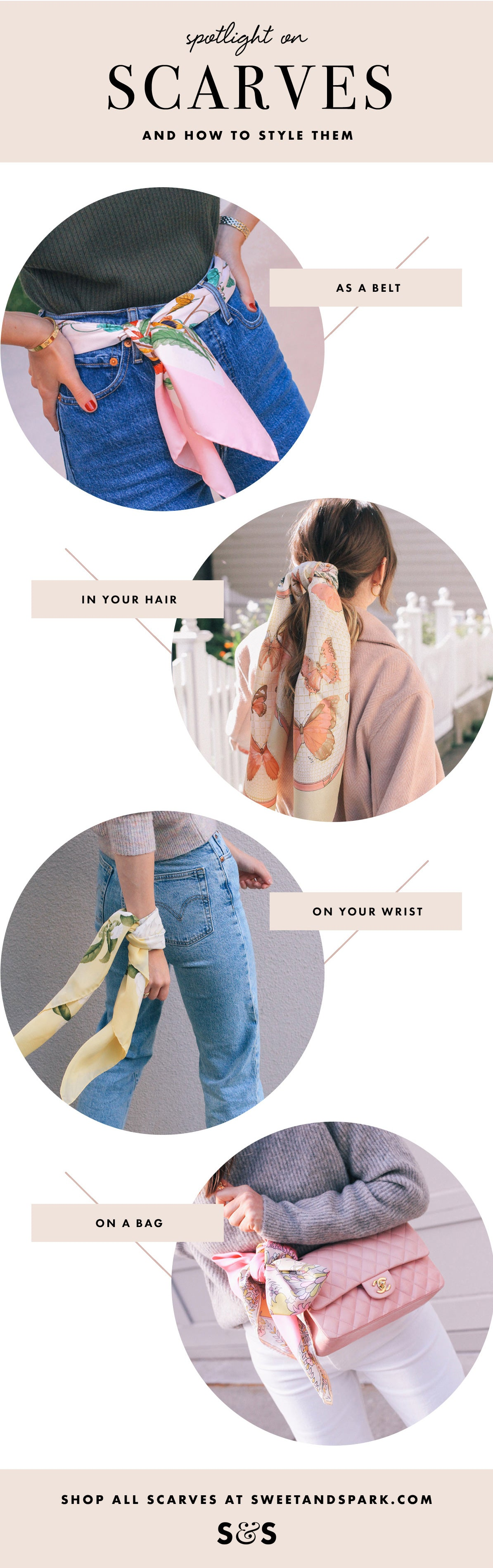 How To Style A Scarf 4 Ways