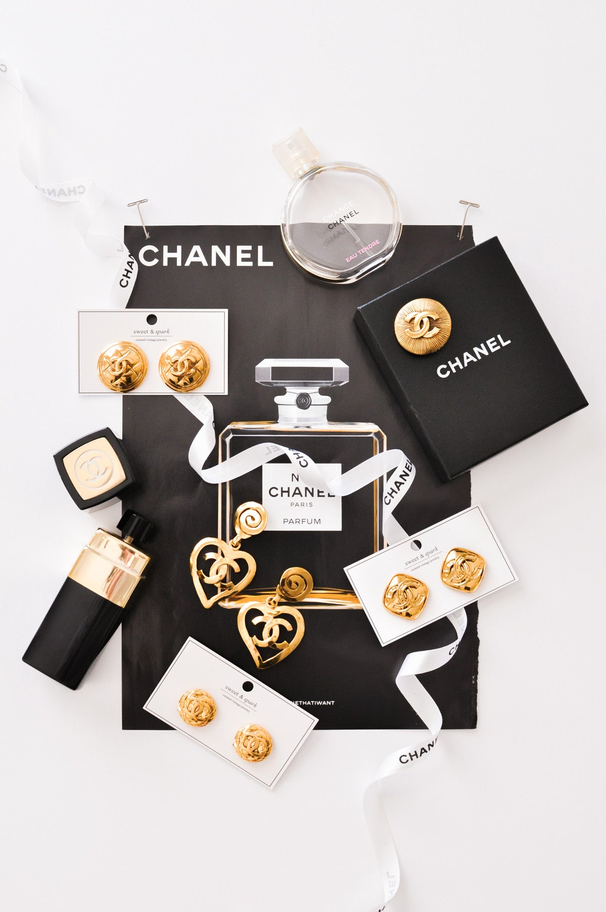 Vintage Chanel jewelry from Sweet & Spark