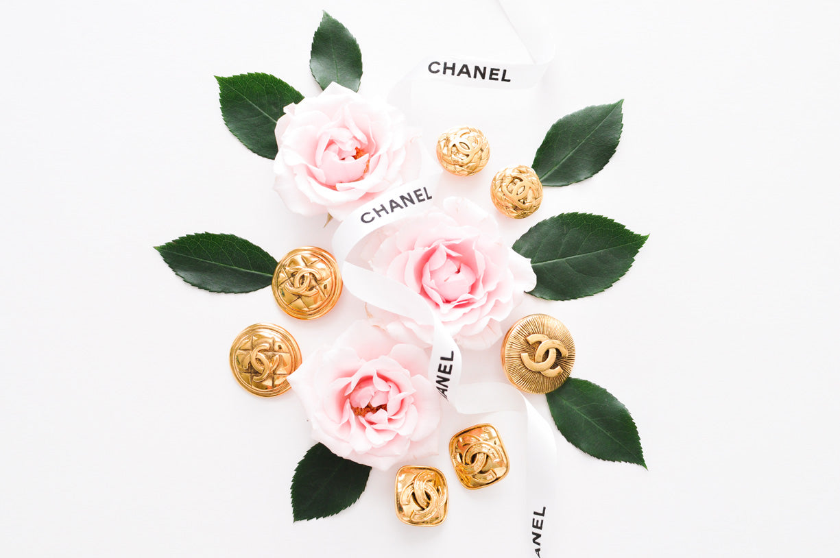 Vintage Chanel Jewelry- earrings and brooch