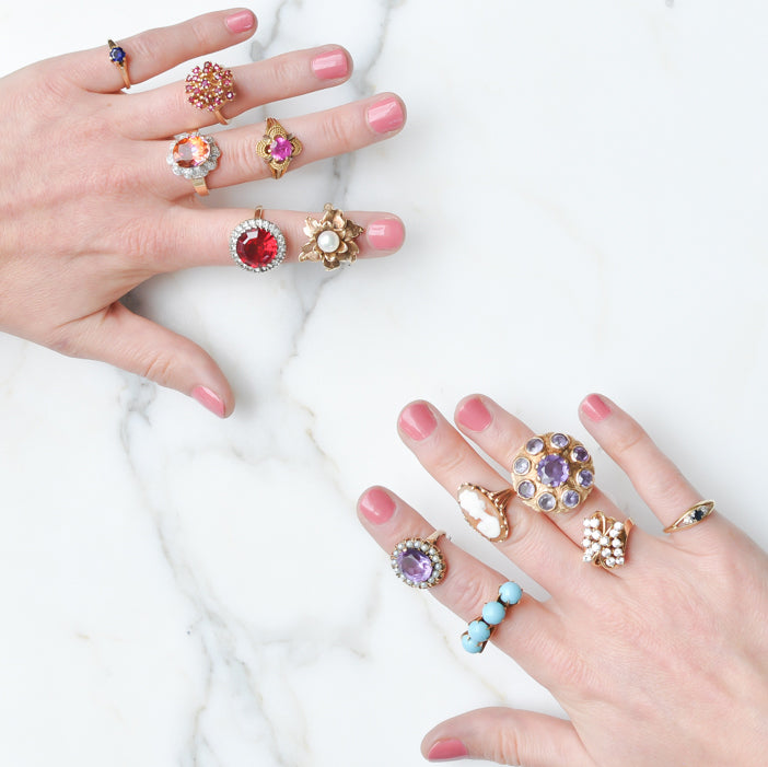Fine Vintage Cocktail Rings