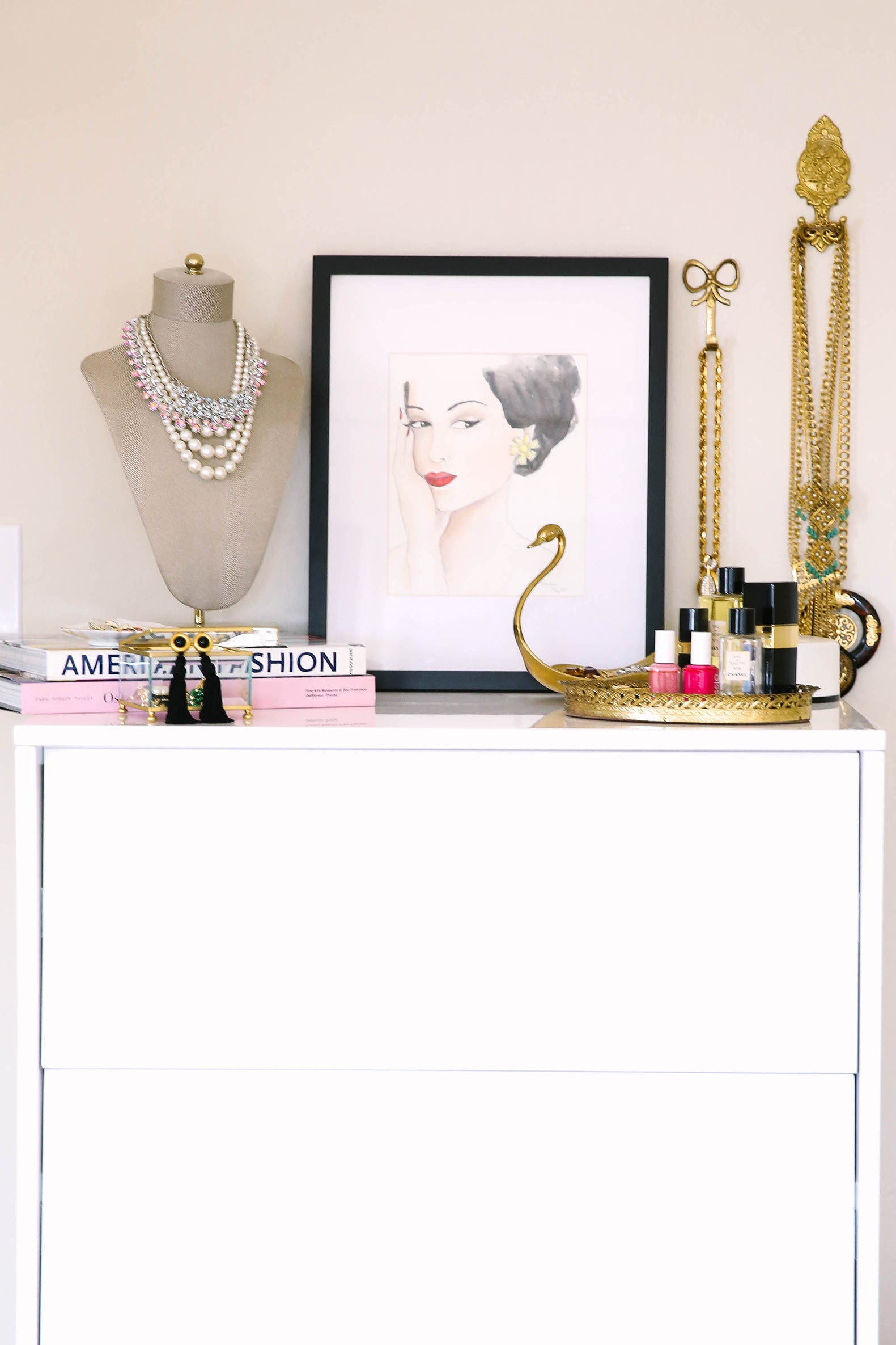 Cute Dresser with Jewelry Displays