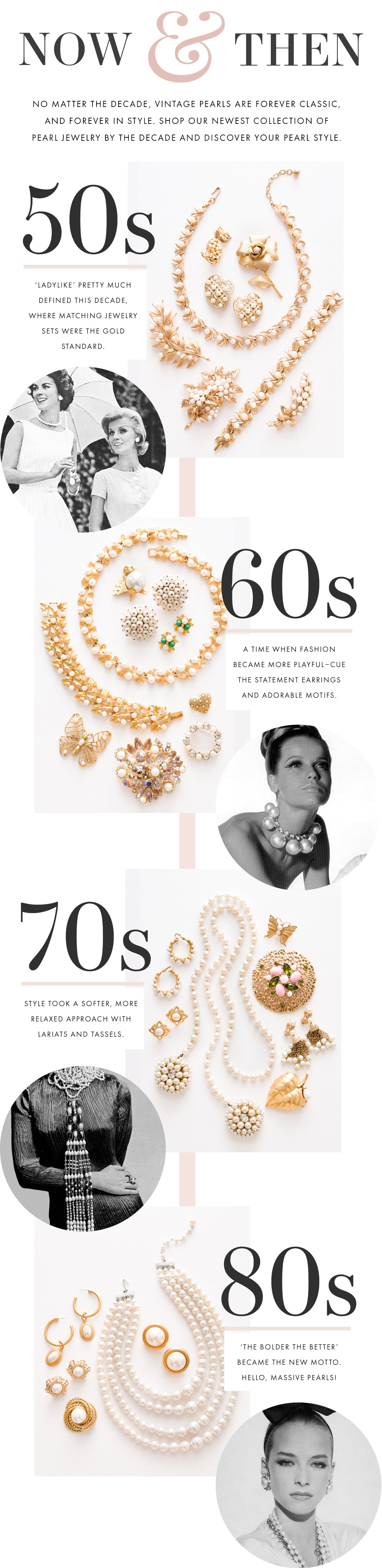 Vintage Pearls By The Decades- Sweet & Spark