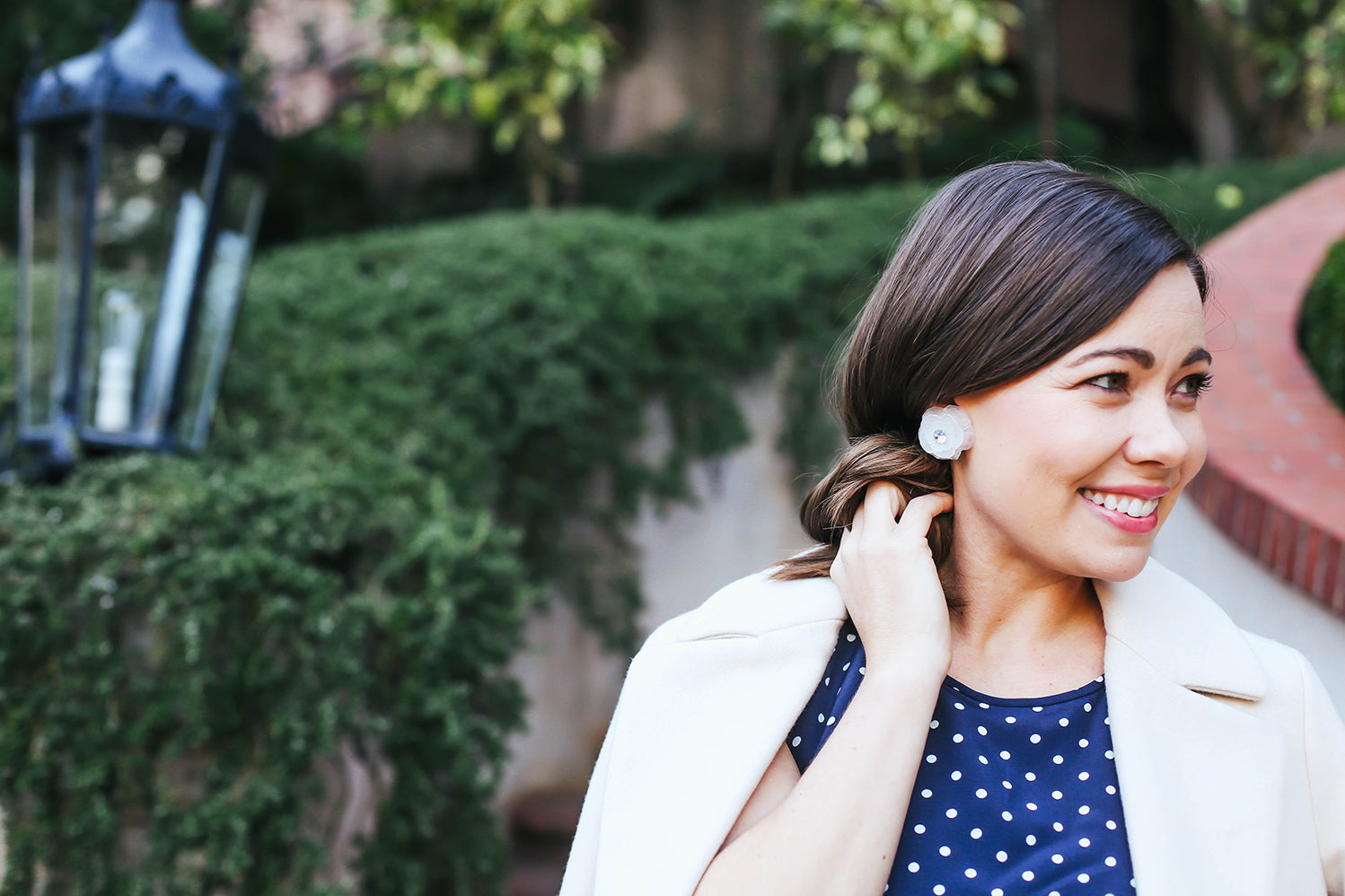 Floral Bauble Statement Earrings