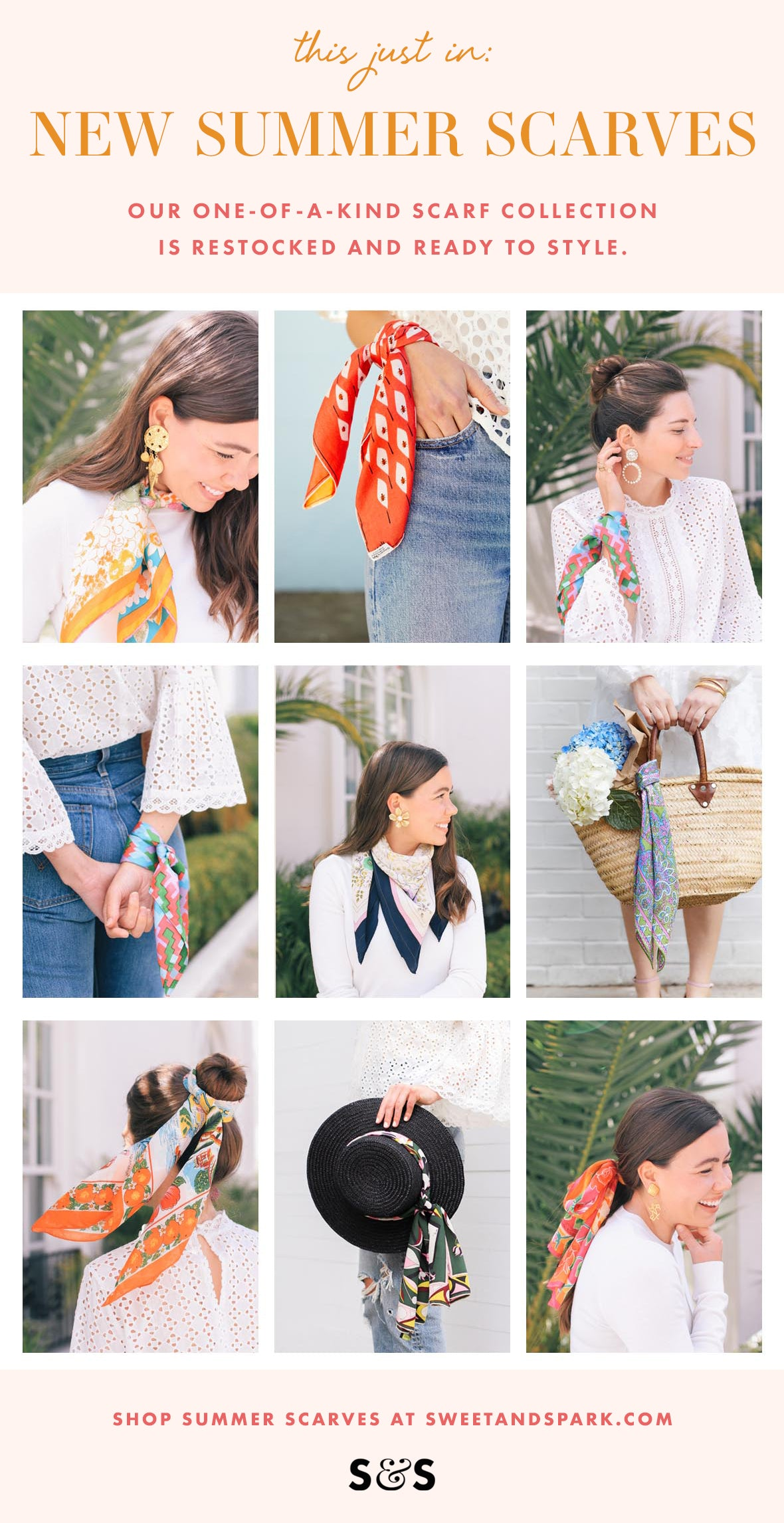 Summer scarf styling tips from Sweet & Spark.