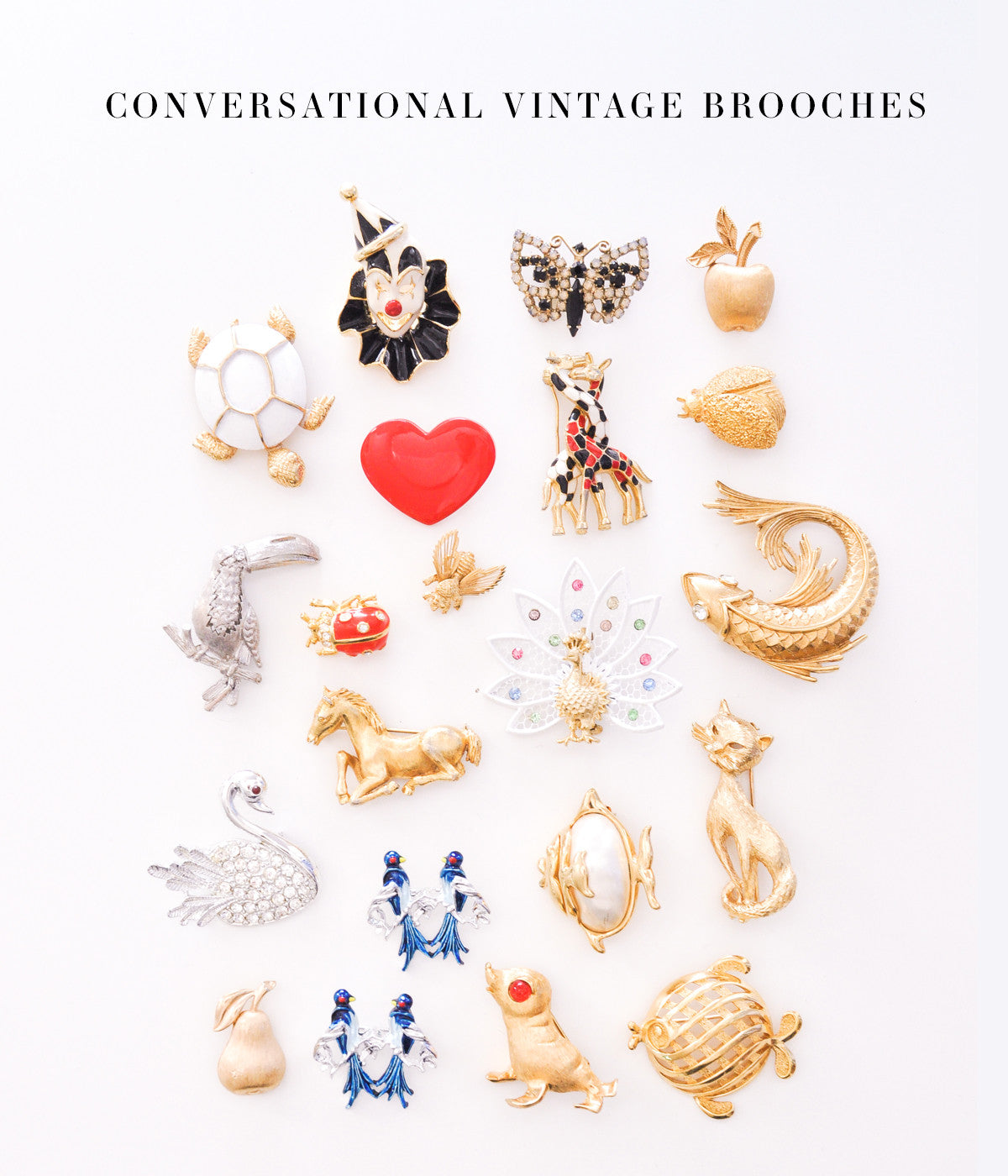 Conversational Vintage Brooches