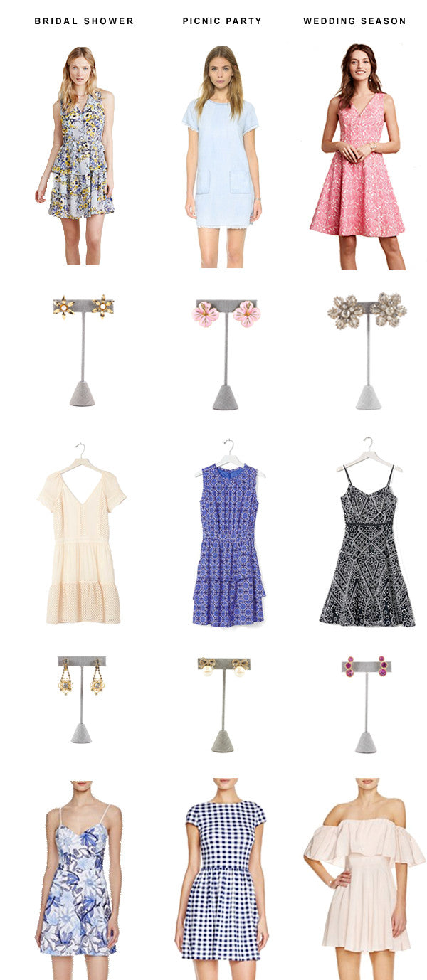 Spring Dresses & Earrings