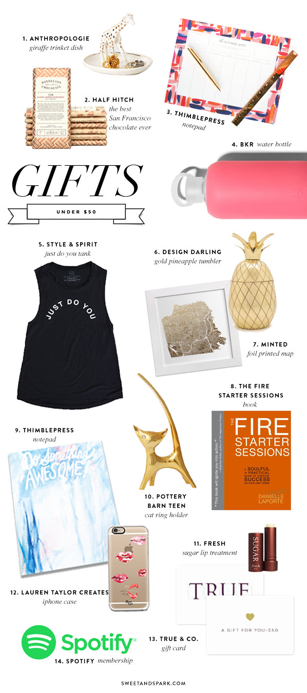 Gifts under $50 for Every Girl on your list