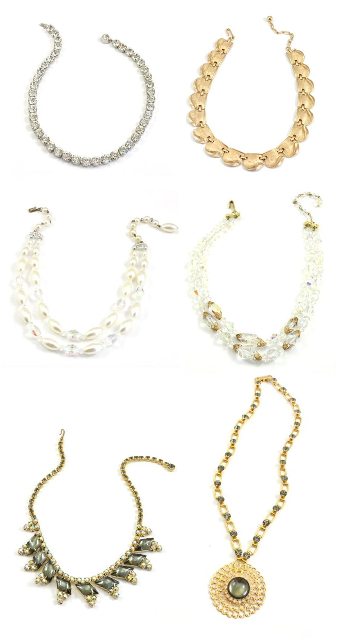 Layered Vintage Necklaces for Holiday Occasions