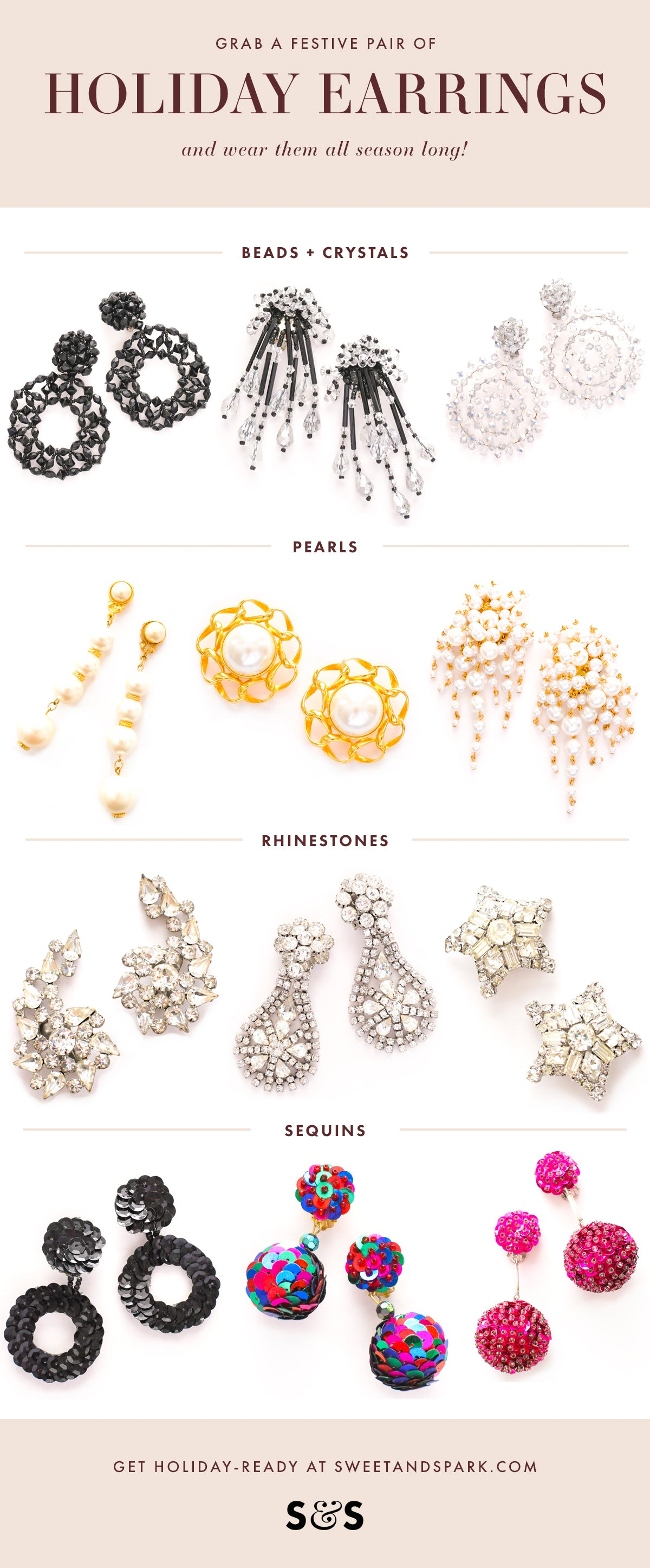 Vintage Statement Earrings for Holiday