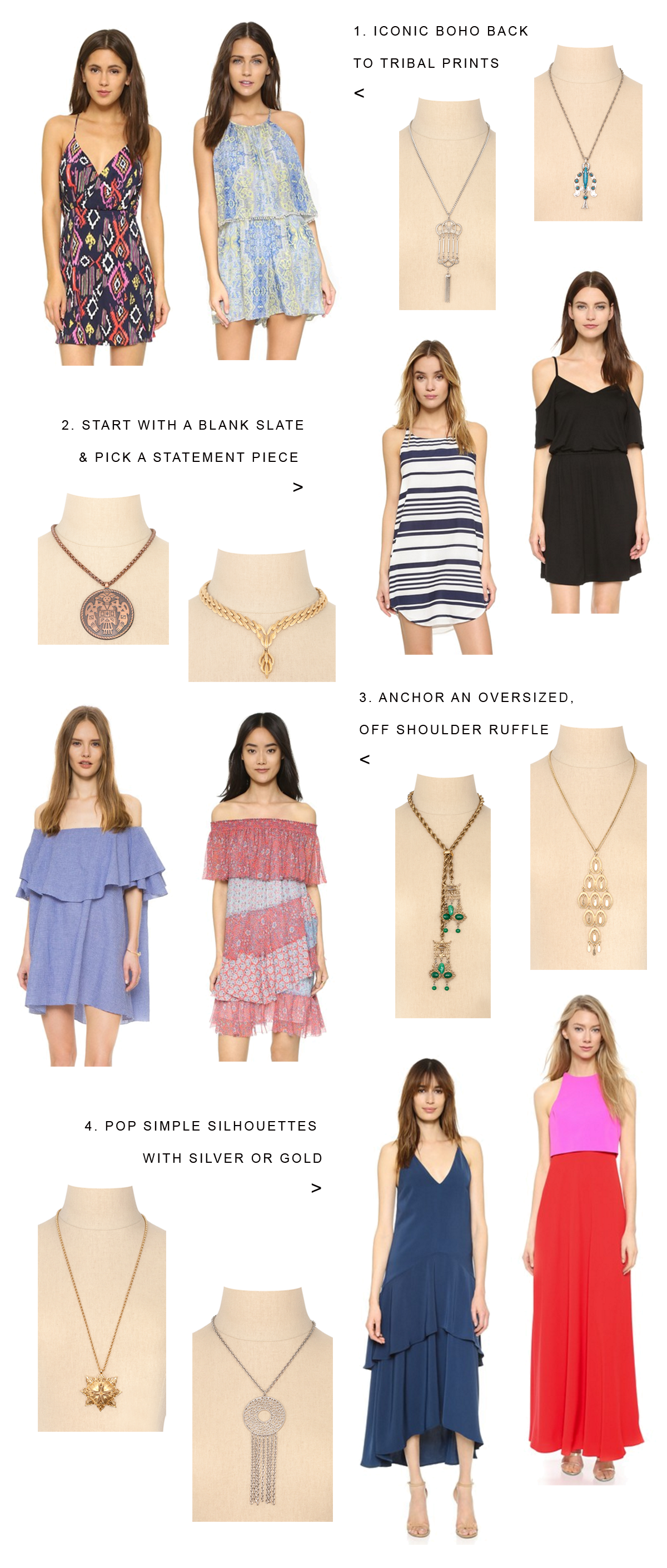How to wear a vintage pendant necklace