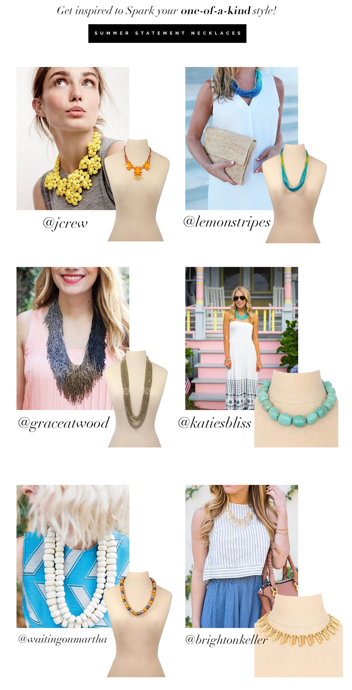 How to wear summer statement necklaces