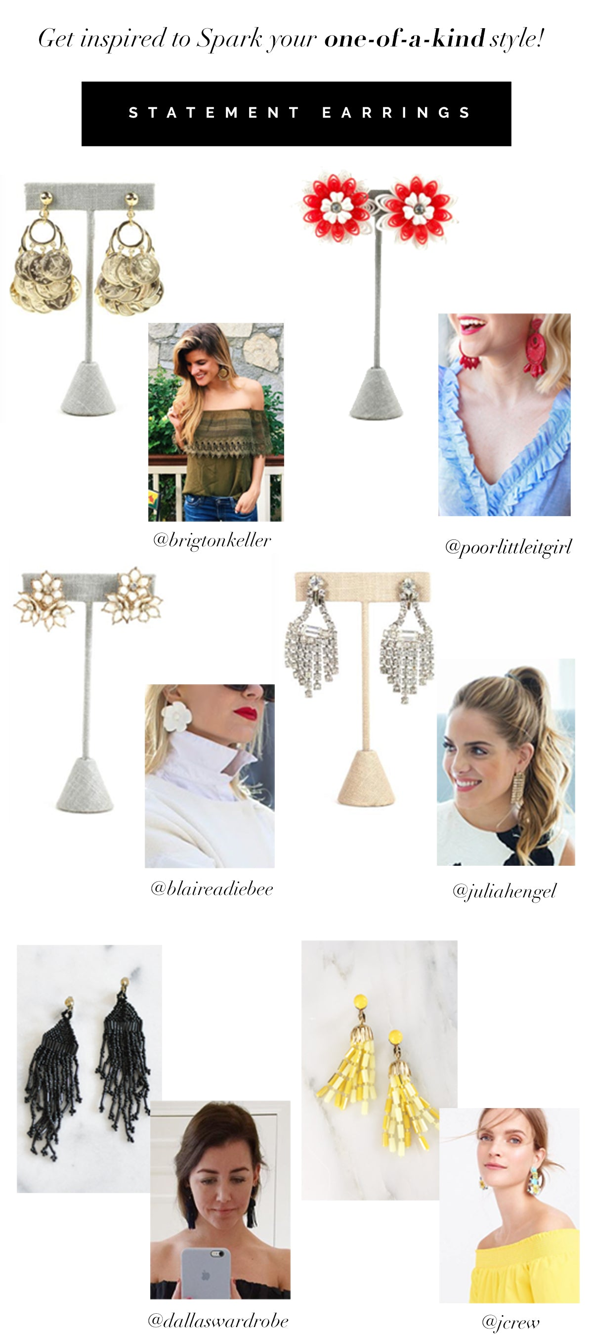 How to Wear Vintage Statement Drop Earrings