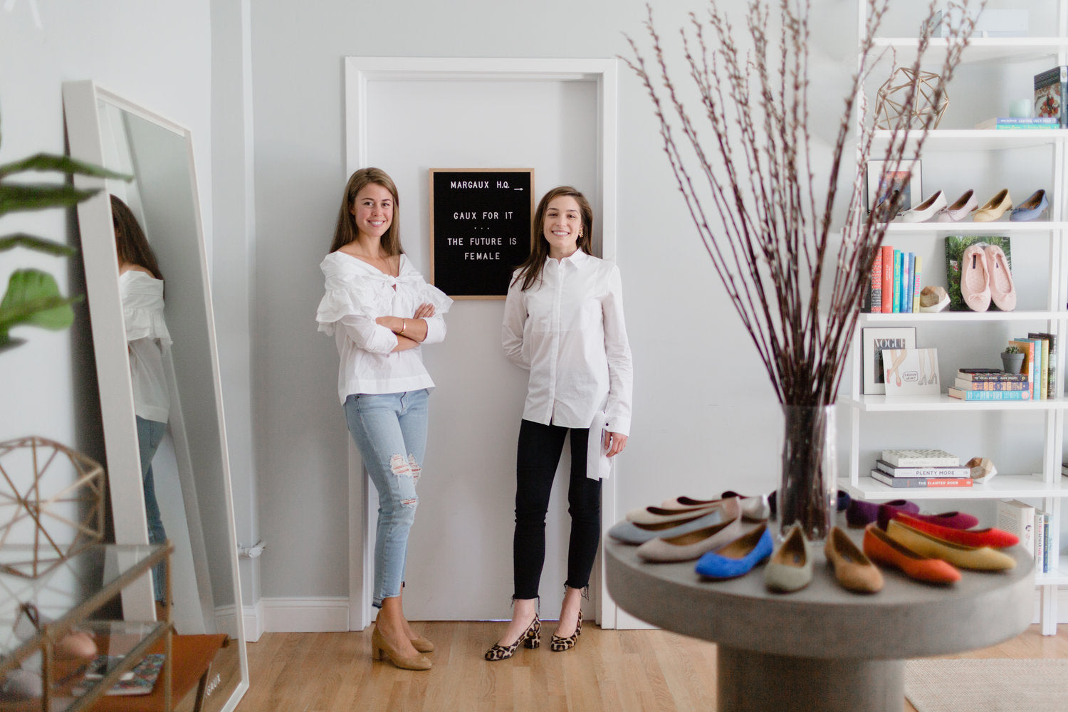 Alexa & Sarah Co-founders of Margaux shoes